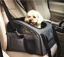Travel Car Seat Carrier for Cat Dog Safety Folding Portable Bag Tote Top Opening Padded Mesh Pet Carrier