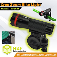 Bicycles Partner Zoom Flashlight Led Bike Light With Strong Clip