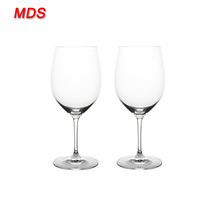 Custom mouth blowing floral italian wine glass for homeware