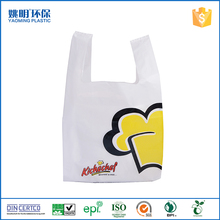 Promotional shopping t-shirt HDPE plastic packing bag