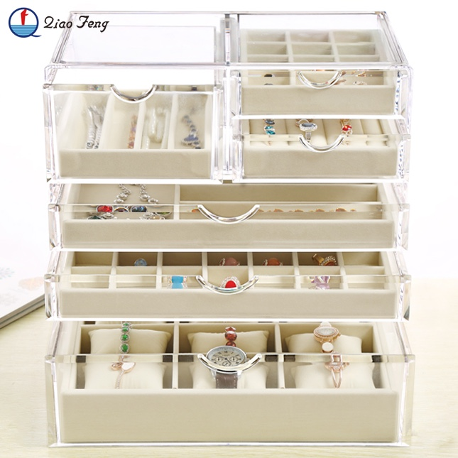 Wholesale Beautiful Glass Ring Jewel Jewelry Case