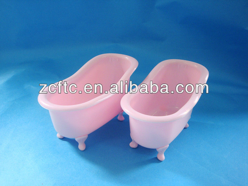 Pink plastic mini toy bathtub,plastic bathtub holder for shampoo bottle or sprayer