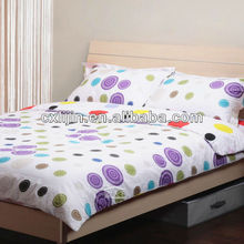 One Side Brushed Polyester Simple And Natural Bed Four Pieces