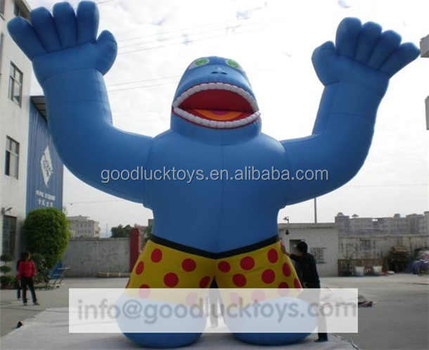 2016 custom advertising inflatable chimpanzee, giant inflatable orangutan, orangutan animal costume