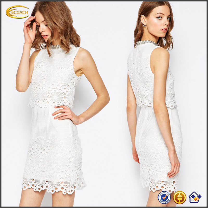 Trade Assurance Ecoach 2016 Embellished Turtle Neckline Ladies Fashion Formal Work Decent Wholesale Dress