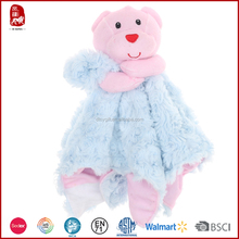 Super comfort teddy bear soft baby hankerchief plush blanket