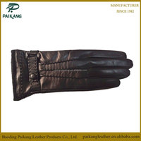 Womens fashion winter 100% genuine leather gloves motorbike