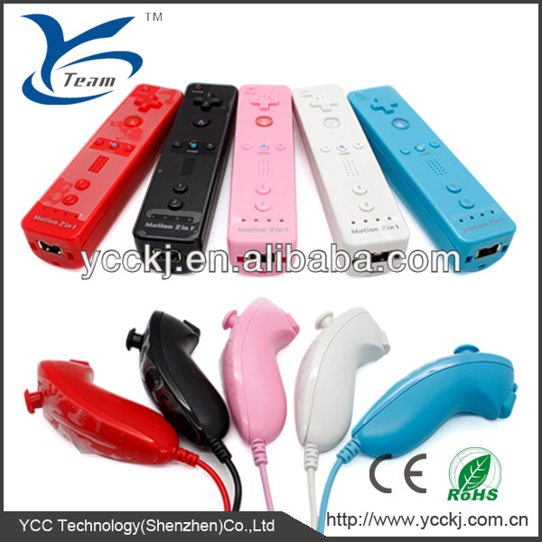 For Nintendo Wii 2in1 remote built-in motion plus controller with silicone sleeve and strap