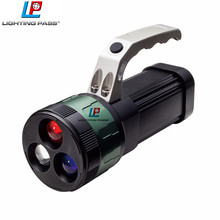 High power zoom light different color lens aluminium flashlight with handle