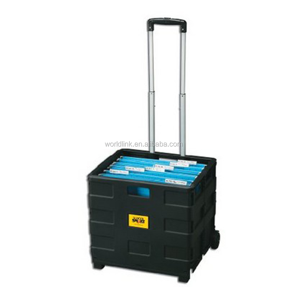35kgs Supermarket Portable Foldable Luggage Trolleys