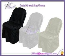 white satin folding chair covers, ivory satin folding chair covers, black satin folding chair covers in wedding events