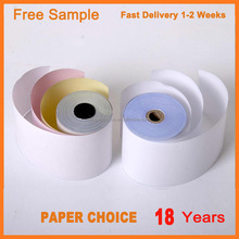 China Factory 100% Virgin Wood Pulp Carbonless Roll Wholesale Price 3 Ply NCR Paper