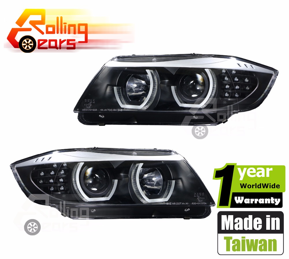 HALO PROJECTOR HEADLIGHTS Silver eyebrow for BMW E90 E91 316d 316i 318d 318i 320d 320i 323i 325d 325i 328i 330d 330i 335d 335i