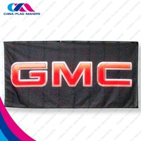 90x150cm print brand publicity promotion fly woven banner flag
