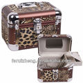 Leopard Grain Style Aluminum Professional Beauty Case Cosmetic