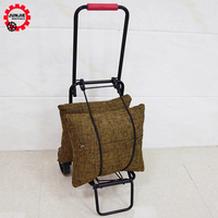 Metal Mini Train Station Luggage Cart