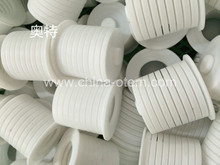 white high strength PTFE plastic insulating pieces