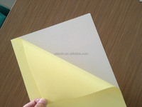 cold press solid PVC album sheets with double sided self adhesive