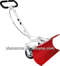 Hand push snow plow/wheeled snow shovel
