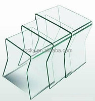 15mm 19mm curved table glass