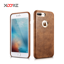 Wholesale PU Leather Mobile Phone Back Cover Case for Apple iPhone 7 Plus
