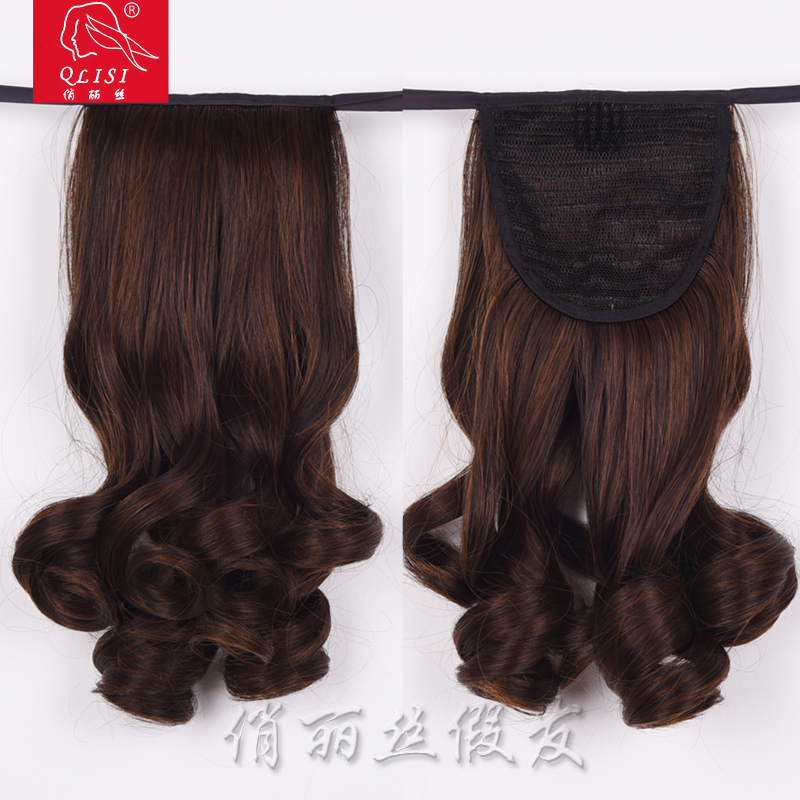 Black Color Synthetic Hair Ponytail Hair Piece Claw Clip In Hair Extension