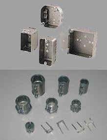 Conduit Knockout Box, Connector, Coupling. . (ANSI)