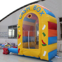 Inflatable properties props cash grab machine for promotional activities