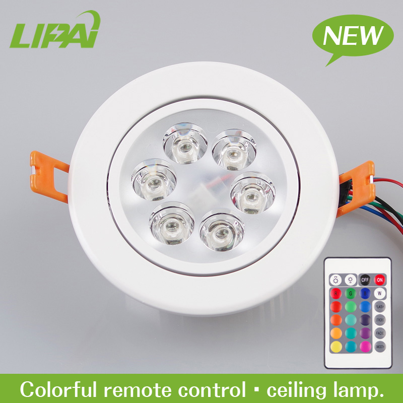 best selling white RGB remote control ceiling lighting led 6W cut hole size 95mm