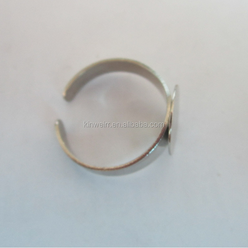 High Quality 21mm metal flat finger ring base