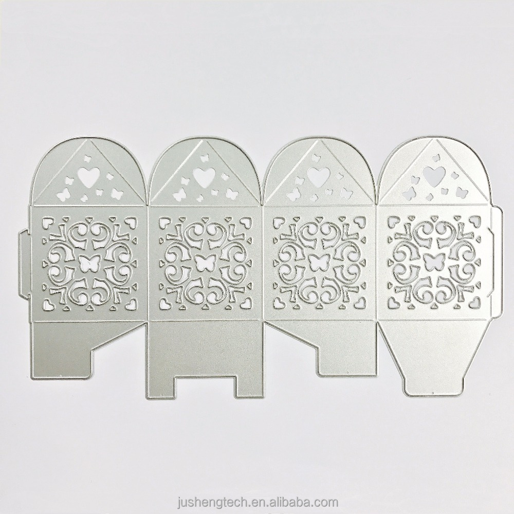 Gift Box Custom Design Craft Cutting Dies for Scrapbooking Metal Stencil