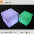 Alibaba China Hot Sale Rechargeable LED Furniture RGB Corlor Illuminated Cube Seat Garden Chair LED