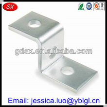 China Dongguan made custom zinc plated carbon/hardened steel z shaped brackets,metal z bracket,z type mounting bracket with hole