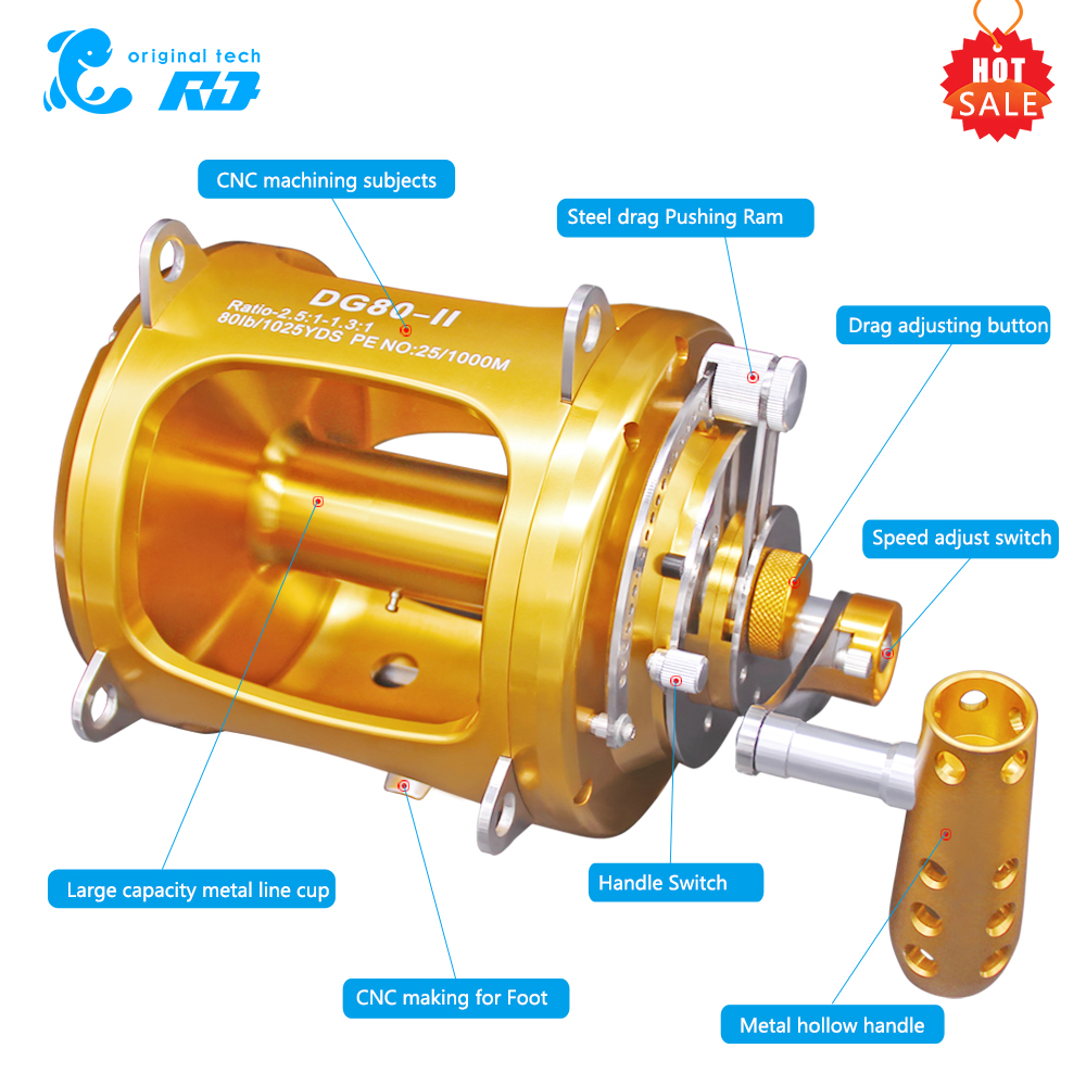 These Model Trolling Reel 16w 20W 30W 50w 80W Method Fishing Big Game Trolling Fishing Reels