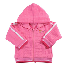 Baby Girls Clothing Baby Hoodies and Sweatshirts Baby Girl Hooded Outerwear Embroidery in 100% Cotton Knitted