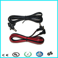 90 degree 2.1mm right to straight 12v dc plug to plug cable