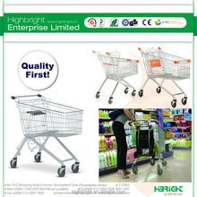 zinc plated 125l supermarket shopping trolley