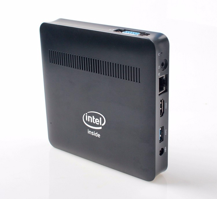 Newest 4GB DDR3 Memory 128GB SSD Windows Intel Apollo Lake Mini PC with VESA Mount and RJ45 LAN port