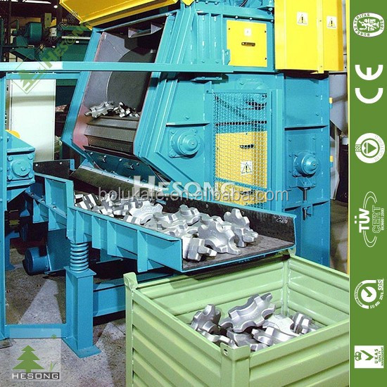 Rotary Drum Automatic Sandblasting Machine For Sale