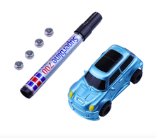 Novelty B/O inductive car for kid Mini electric Magic Pen Inductive Tank Truck Car Draw Toys