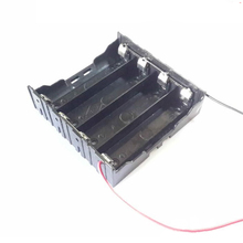 4X 18650 Parallel battery holder,Li-ion battery holder with wires
