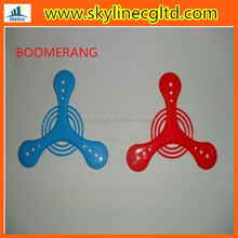 Classic triangle flying boomerang,the soft boomerang/plastic boomerang