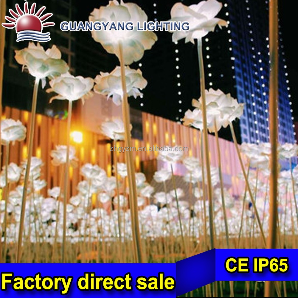LED Lights Rose Flowers Outdoor Christmas Party Wedding Decoration with Different