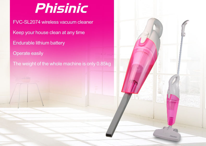PHISINIC  Cordless 2 in 1 Stick Vacuum Rechargeable Lithium Ion Battery