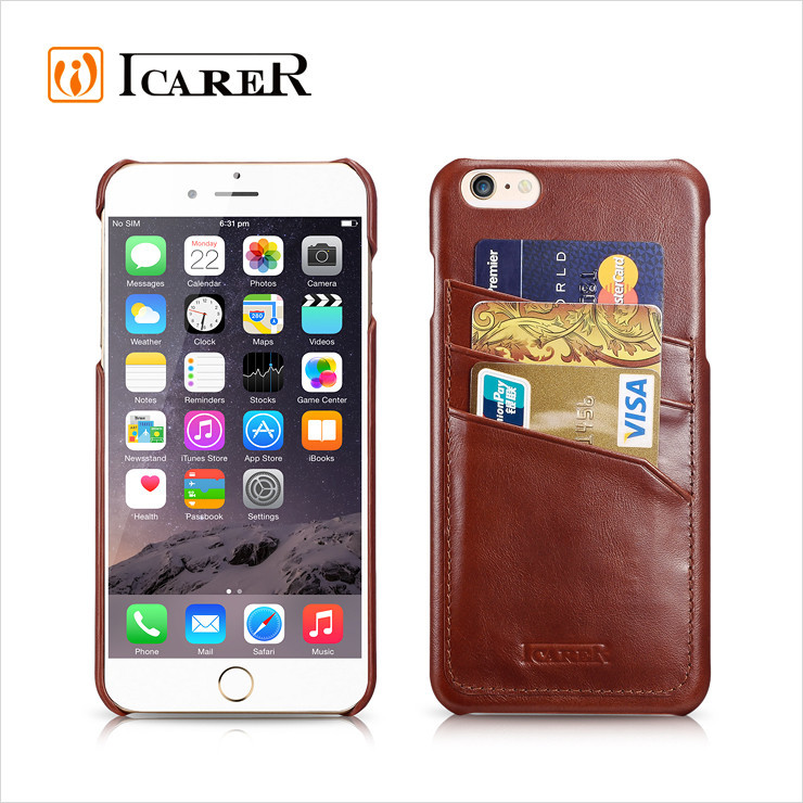 Mobile Phone Genuine Leather Blank Case For iPhone 6