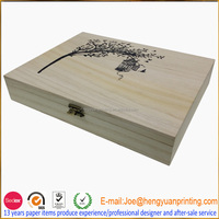 Unfinished Wooden essential oil box with compartments CH778