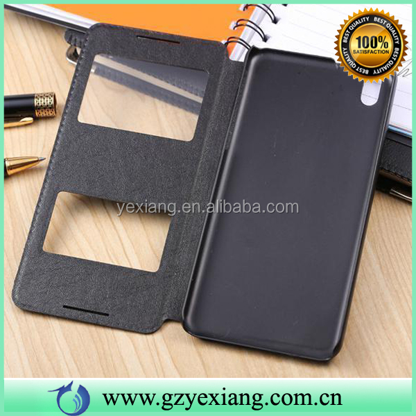 In Stock Mobile Phone With Window Leather Flip Case For HTC 816 Back Cover Case