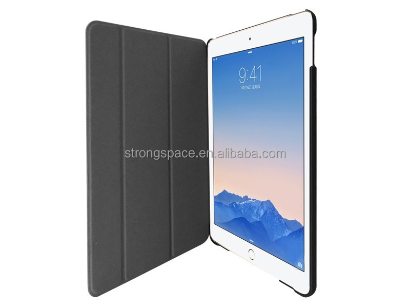New 2015, 3 fold leather case for New IPad mini 4 cover