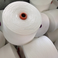 hubei 40/2 raw white paper cone 100 polyester yarn price in india for sewing thread, plyester spun yarn 30/1