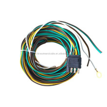 J100251 25' 20AWG One 30'' Ground Wire 4 Wire Flat Connector Car And Trailer Wiring Harness